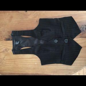 Rampage Black and White Pinstriped Halter Vest.